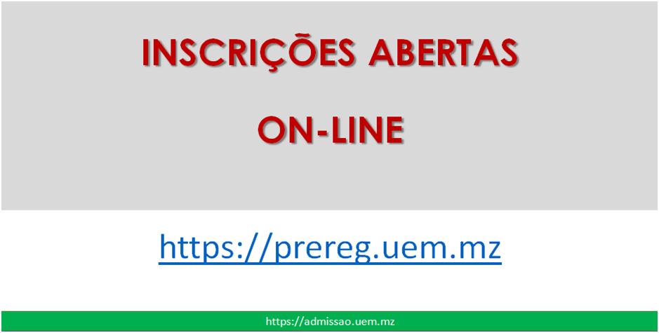 Inscrições On-Line