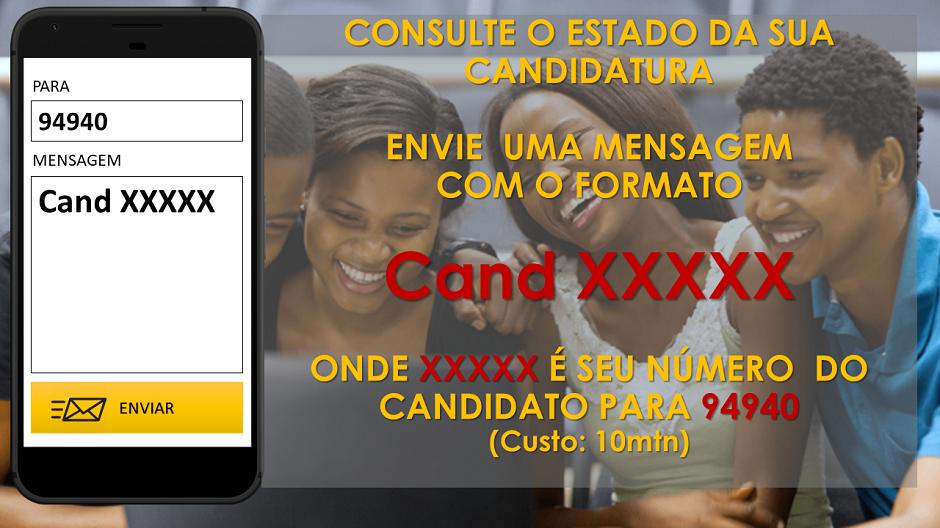 Consulte o estado da sua candidatura por SMS